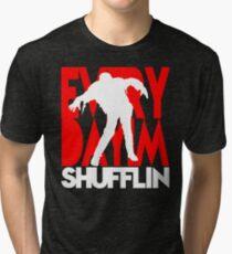 Zombie Shuffle (wht) Tri-blend T-Shirt
