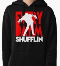 Zombie Shuffle (wht) Pullover Hoodie