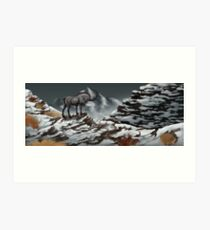 Mountain guardian Art Print