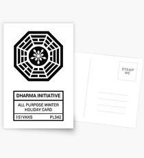 Dharma Initiative All Purpose Winter Holiday Card Postkarten