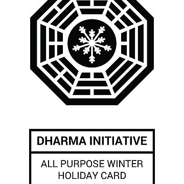Dharma Initiative All Purpose Winter Holiday Card by enigma630