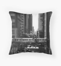 Chicago Street and The Loop Throw Pillow