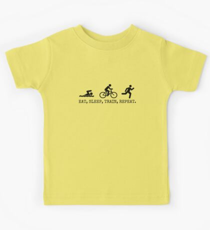 Eat, Sleep, Train, Repeat. Kids Clothes
