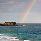 Rainbow over Bombo Headland by Dilshara Hill