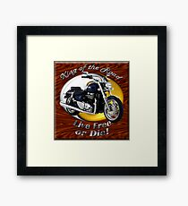 Triumph Thunderbird King Of The Road Framed Print
