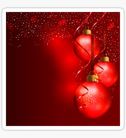 Red Christmas Background Sticker