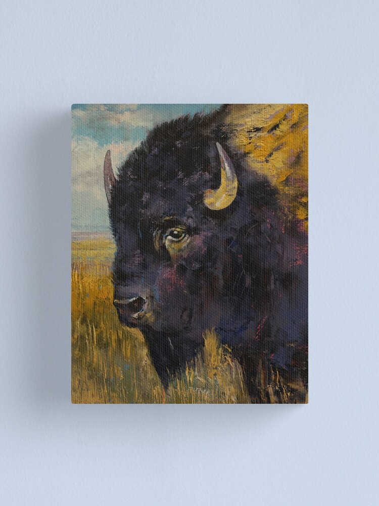 Alternate view of Bison Canvas Print