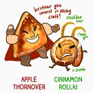 Apple Thornover & Cinnamon Rollki by derlaine