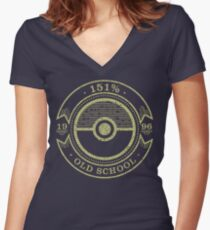 151% Old School Women's Fitted V-Neck T-Shirt
