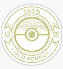 151% Old School Sticker