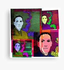 HP LOVECRAFT, AMERICAN GOTHIC WRITER, COLLAGE Canvas Print