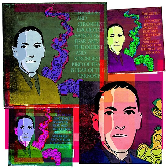 HP LOVECRAFT, AMERICAN GOTHIC WRITER, COLLAGE by Clifford Hayes