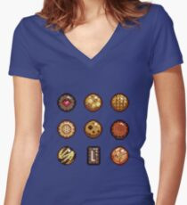 Cookies & Biscuits Women's Fitted V-Neck T-Shirt