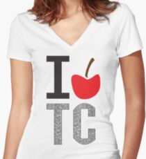 I Love Traverse City Women's Fitted V-Neck T-Shirt