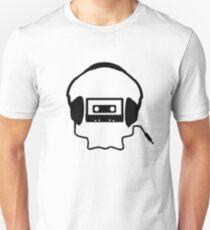 Tape Headphones and a Skull Unisex T-Shirt