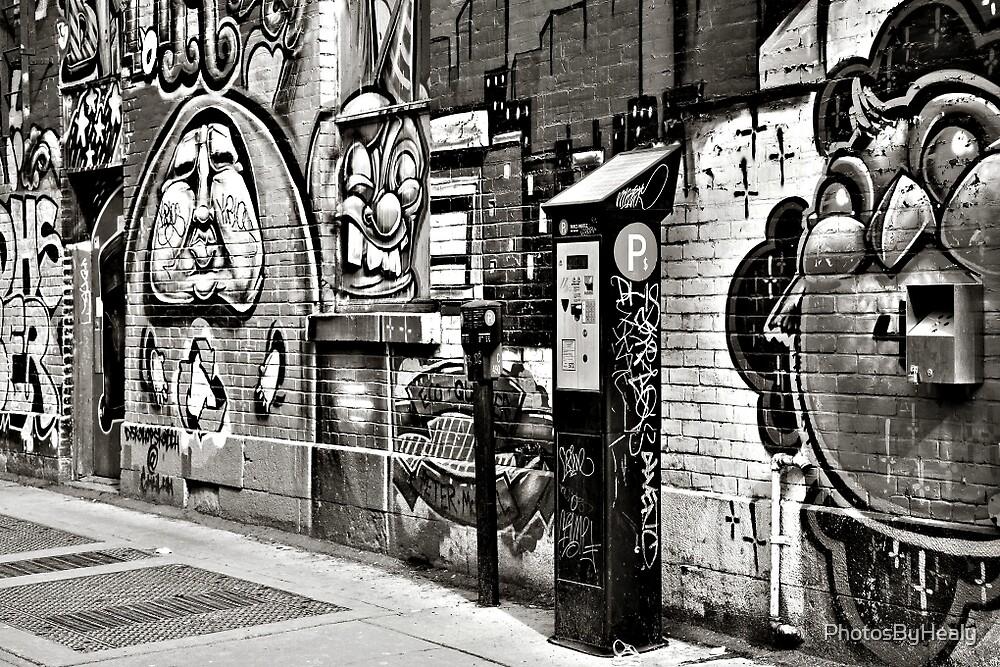 Street Art 1 - B&W by PhotosByHealy