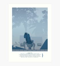 Jurassic Park Film Poster - feat Gennaro Art Print