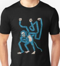 City hipster blue monkey Unisex T-Shirt