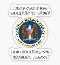 NSA Naughty and Nice Sticker