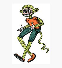 City hipster monkey green Photographic Print