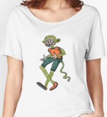 City hipster monkey green Women's Relaxed Fit T-Shirt