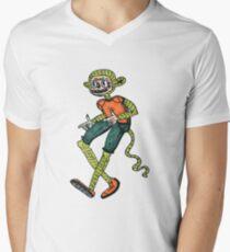 City hipster monkey green Men's V-Neck T-Shirt