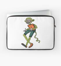 City hipster monkey green Laptop Sleeve