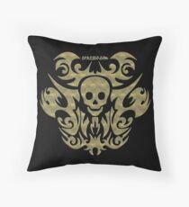 skull tattoo - mystical, humor, funny, underground Throw Pillow