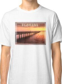Sunset/sundusk over harbor Classic T-Shirt