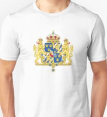 Greater Coat of Arms of Sweden Without Ermine Mantling  T-Shirt