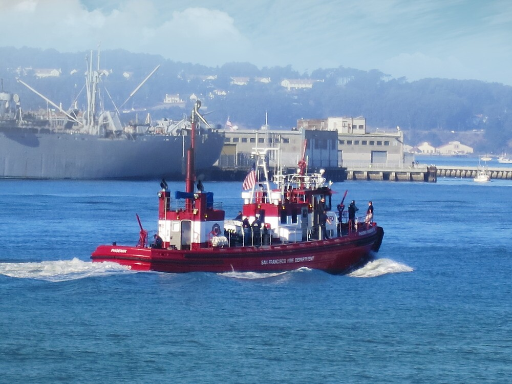 San Francisco Fire Department on the water by David Denny