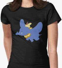 Dumbo Flying Women's Fitted T-Shirt