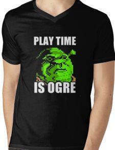 Play Time is Ogre Mens V-Neck T-Shirt
