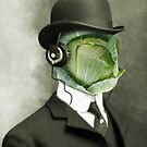 cabbage face in a bowler by Vin  Zzep