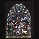 Nativity Window At Charmouth Church  Dorset by lynn carter