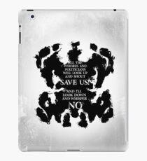 rorschach save us! iPad Case/Skin