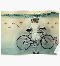 diving bell cyclist Poster