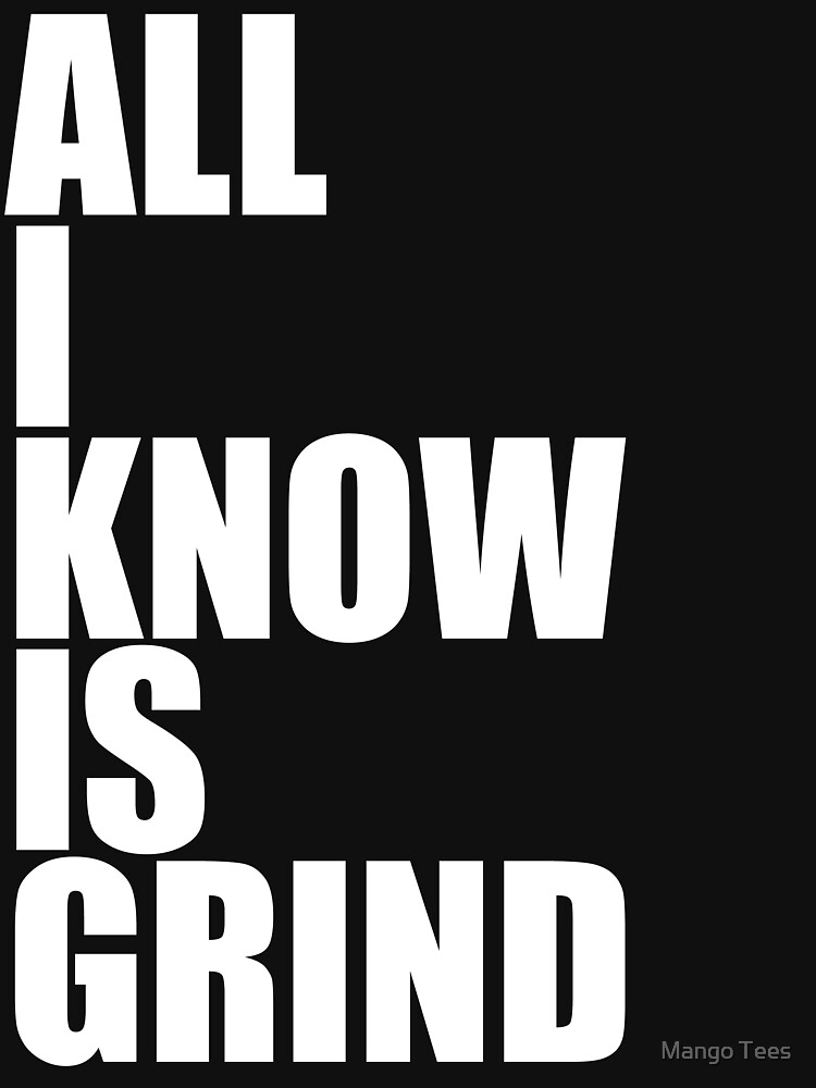 All I Know Is Grind Womens Fitted V Neck T Shirt By Sebastya