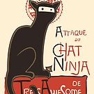 A French Ninja Cat (Le Chat Ninja) by kylewalters
