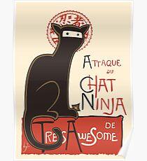 A French Ninja Cat (Le Chat Ninja) Poster