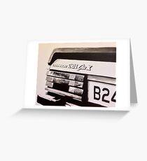 Mk.2 Ford Granada 2.8i Ghia X Greeting Card