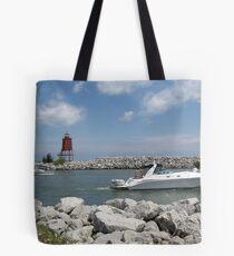 Racine North Breakwater Light Tote Bag