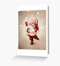 Santa Claus collects stars Greeting Card