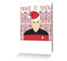 Trekky Xmas Greeting Card