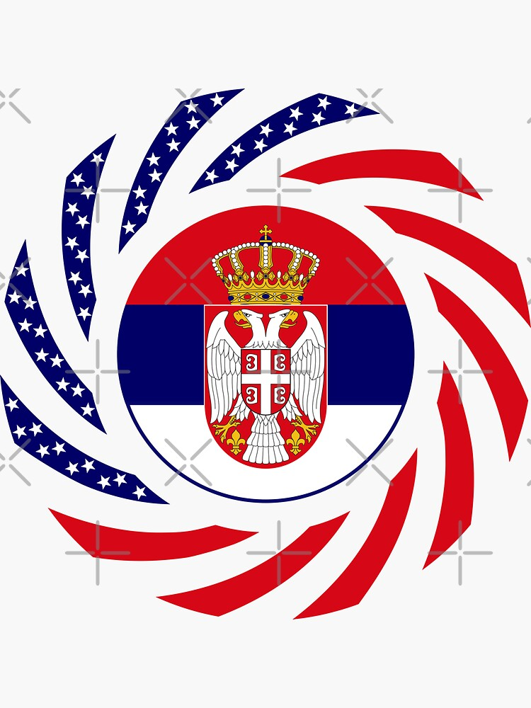 Serbian American Multinational Patriot Flag Series by carbonfibreme