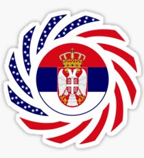 Serbian American Multinational Patriot Flag Series Sticker