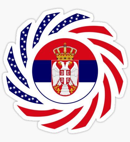 Serbian American Multinational Patriot Flag Series Sticker
