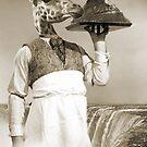 Giraffe Waiter by Vin  Zzep