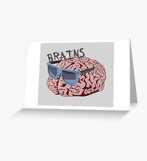 Cool Brains Greeting Card