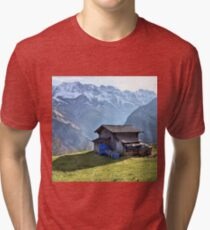 swiss alps Tri-blend T-Shirt